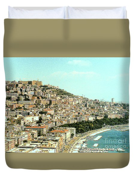 Duvet Cover featuring the photograph The City Of Sorrento, Italy by Merton Allen