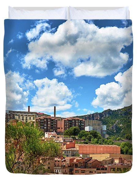 Duvet Cover featuring the photograph The City Of Tarragona And A Beautiful Sky by Eduardo Jose Accorinti
