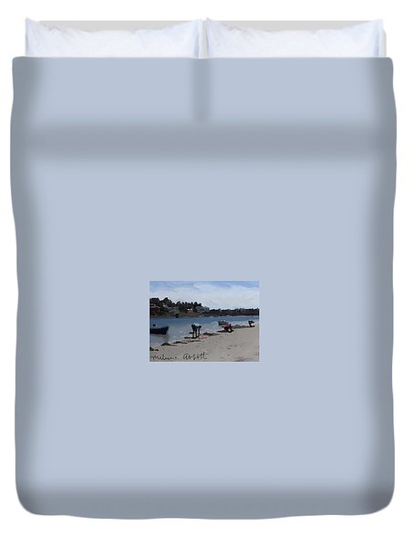 The Clam Diggers - Annisquam River  Duvet Cover