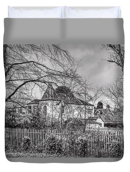 Duvet Cover featuring the photograph The Claremont by Jeremy Lavender Photography
