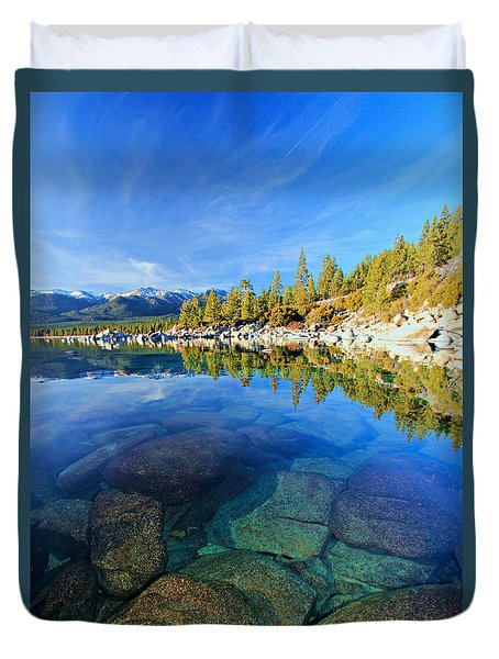 The Clarity Of Lake Tahoe Duvet Cover