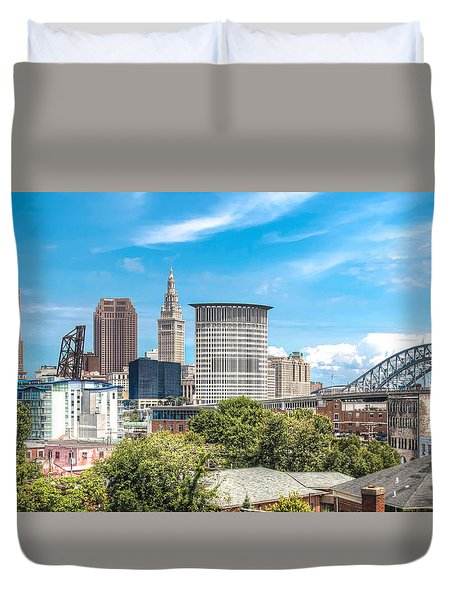 The Cleveland Skyline Duvet Cover