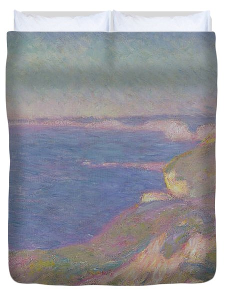 The Cliffs Near Dieppe Duvet Cover