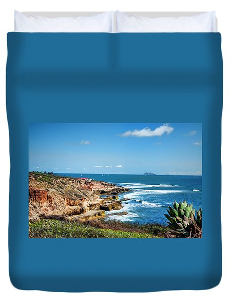The Cliffs Of Point Loma Duvet Cover