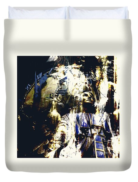 The Clock Struck One Duvet Cover