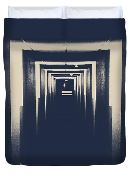 The Closed Doors Duvet Cover by Jerry Cordeiro