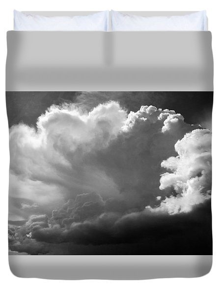 Duvet Cover featuring the photograph The Cloud Gatherer by John Bartosik