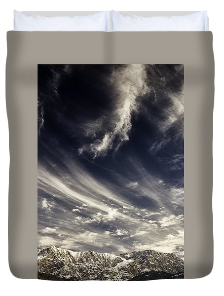 The Clouds And The Mountain Duvet Cover