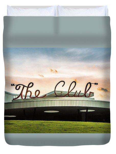 Duvet Cover featuring the photograph The Club Panorama by Parker Cunningham