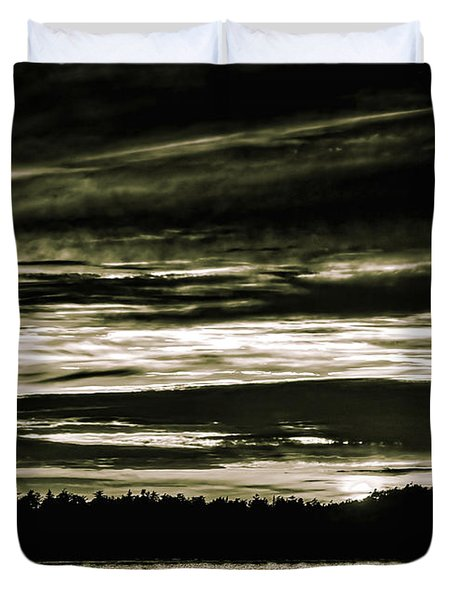 The Coast At Night Duvet Cover