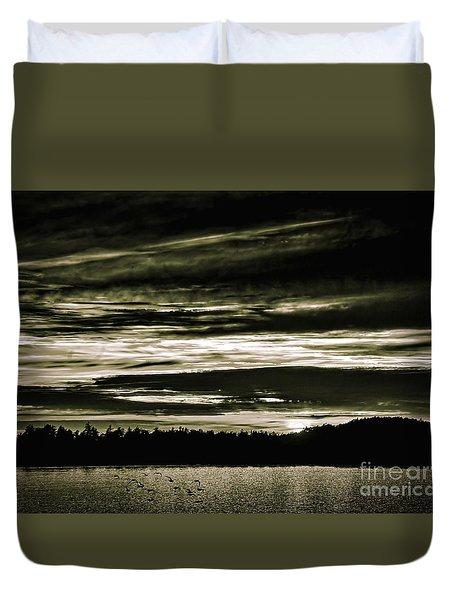 The Coast At Night Duvet Cover
