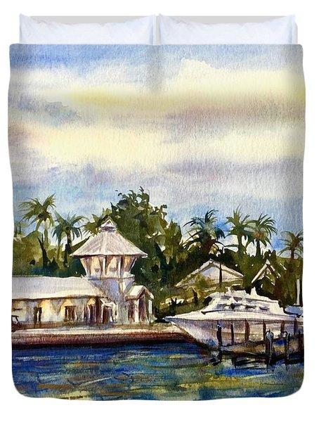 The Coast Of Nassau Duvet Cover