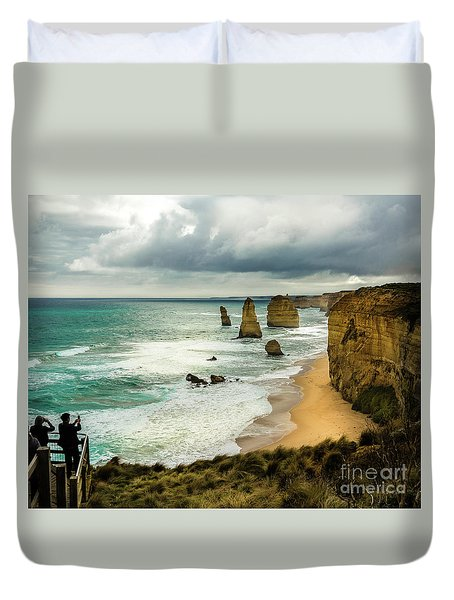 Duvet Cover featuring the photograph The Coast by Perry Webster