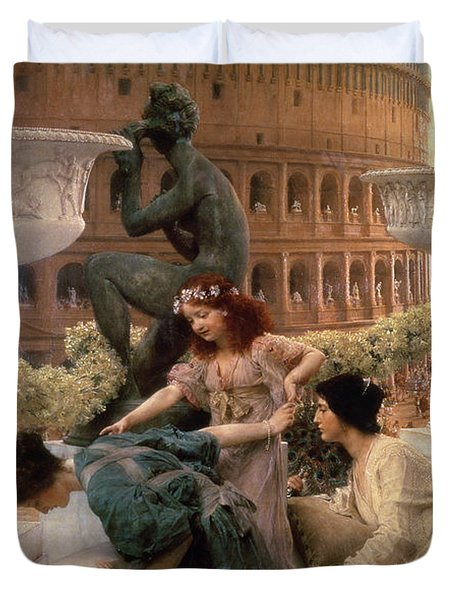 The Coliseum Duvet Cover by Sir Lawrence Alma-Tadema