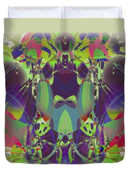 The Color Mask Duvet Cover by Moustafa Al Hatter