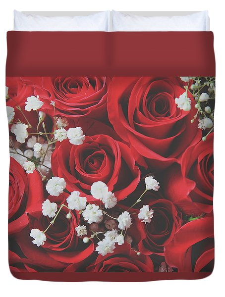 Duvet Cover featuring the photograph The Color Of Love by Laurie Search