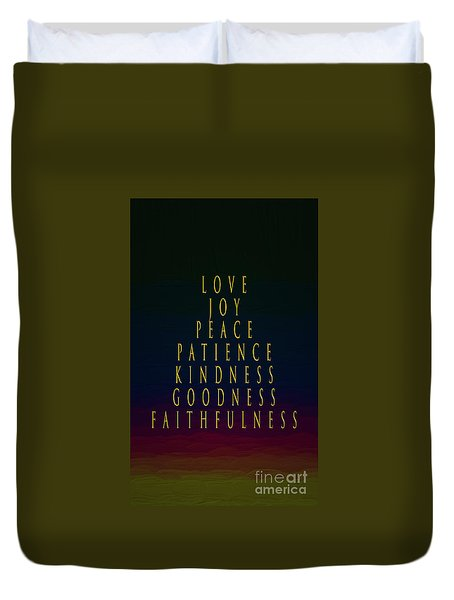The Color Of Love Duvet Cover by Mim White