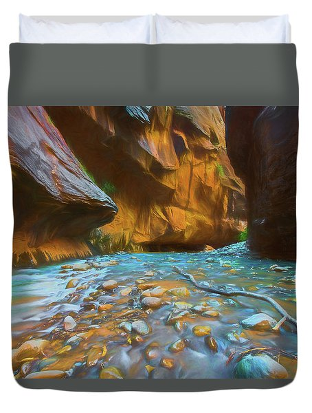 The Color Of Water Duvet Cover