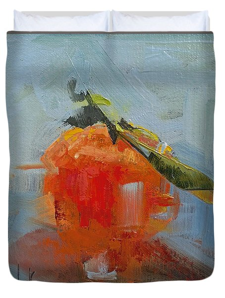 The Color Orange Duvet Cover by Barbara Andolsek