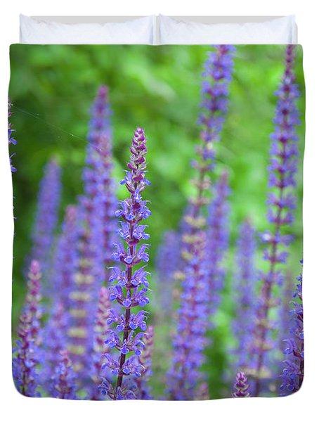 The Color Purple - Longwood Gardens Duvet Cover