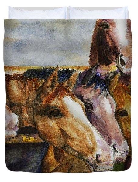 The Colorado Horse Rescue Duvet Cover
