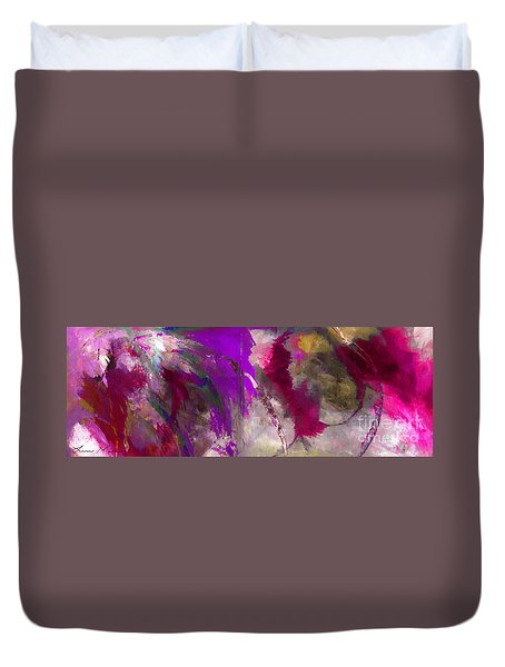 The Colorful Bustier Painting Duvet Cover