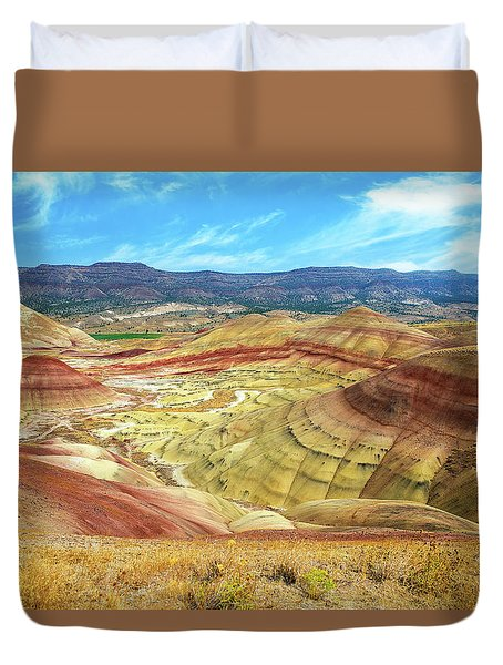 The Colorful Painted Hills In Eastern Oregon Duvet Cover