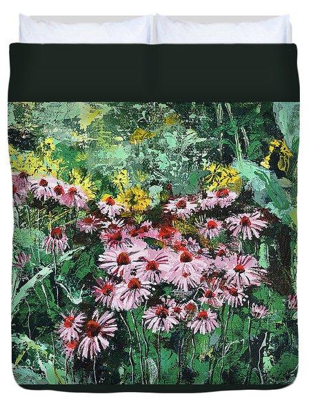 Coneflowers  Garden Duvet Cover