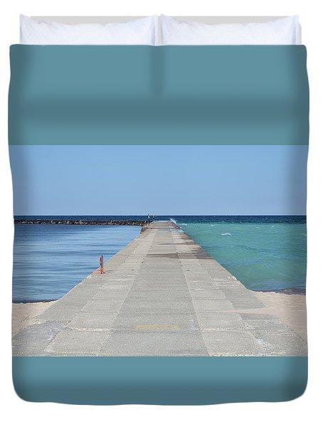 The Colors Of Lake Michigan Duvet Cover