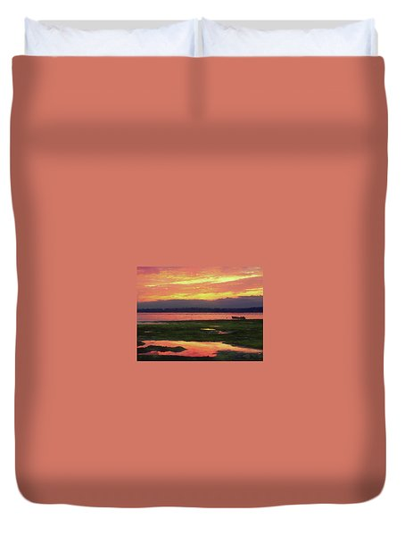 The Colors Of Ship Creek Duvet Cover