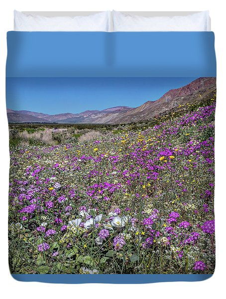 Duvet Cover featuring the photograph The Colors Of Spring Super Bloom 2017 by Peter Tellone