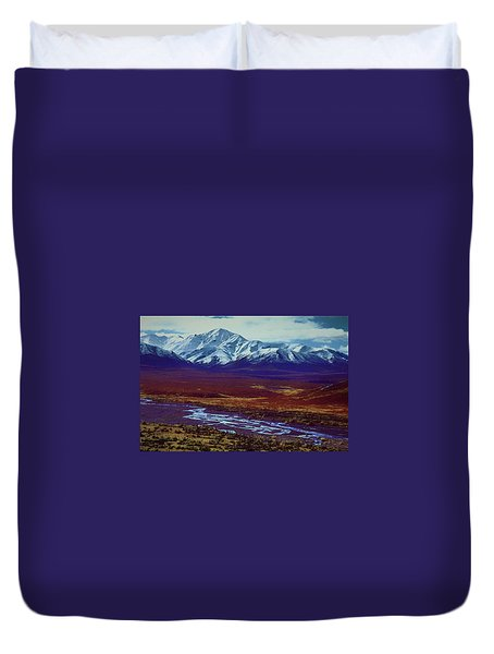 The Colors Of Toklat River Duvet Cover