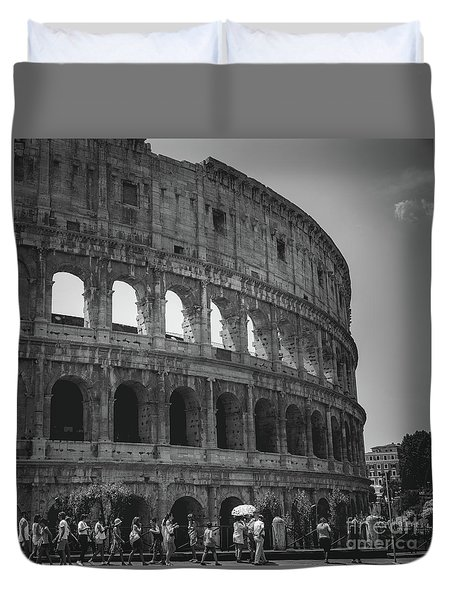 The Colosseum, Rome Italy Duvet Cover