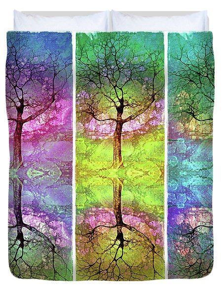 Duvet Cover featuring the photograph The Colourful Dreams Trees Have To Share by Tara Turner