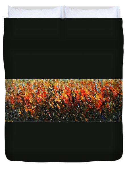 Duvet Cover featuring the painting The Colour Of Joy by Jane See