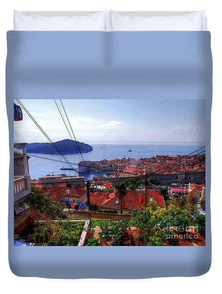 The Colourful City Of Dubrovnik Duvet Cover