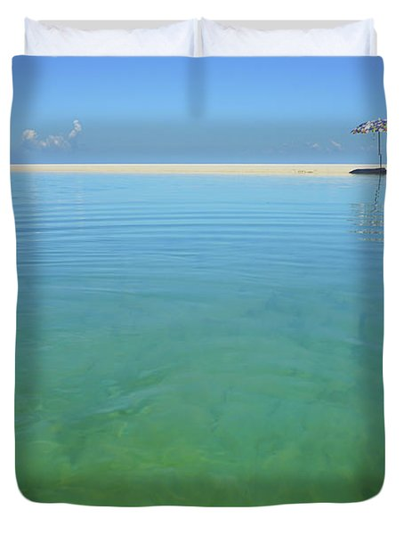 The Colours Of Paradise On A Summer Day Duvet Cover