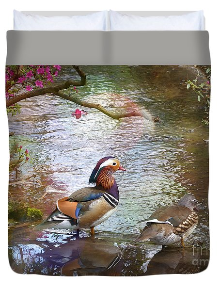 Duvet Cover featuring the photograph The Colours Of Spring by LemonArt Photography