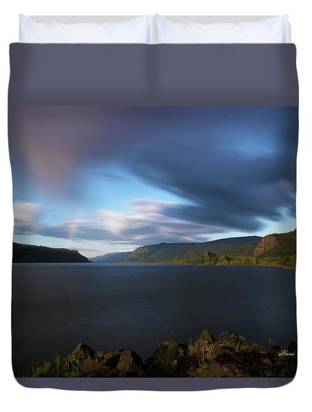The Columbia River Gorge Signed Duvet Cover