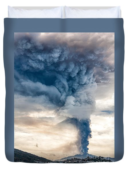 The Column Duvet Cover by Giuseppe Torre