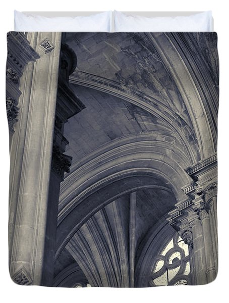 The Columns Of Saint-eustache, Paris, France. Duvet Cover