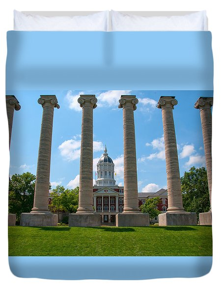 The Columns Duvet Cover