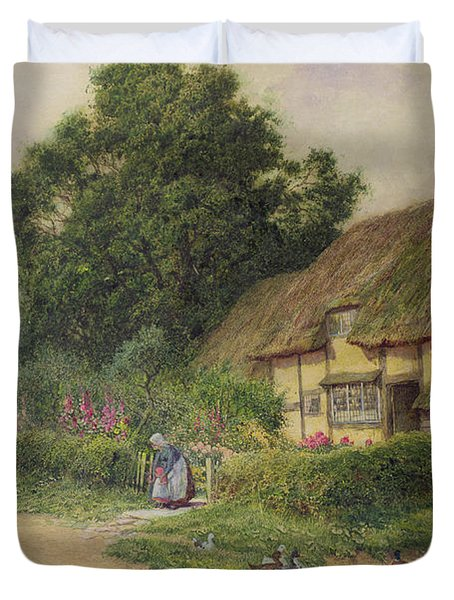 The Coming Of The Haycart  Duvet Cover by Arthur Claude Strachan