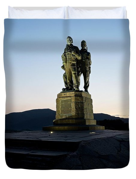 The Commando Memorial Duvet Cover