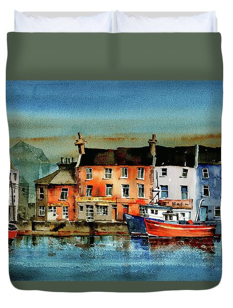 The Commercial Docks, Galway Citie Duvet Cover