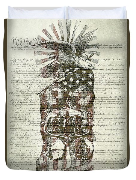 The Constitution Of The United States Of America Duvet Cover by Dan Sproul