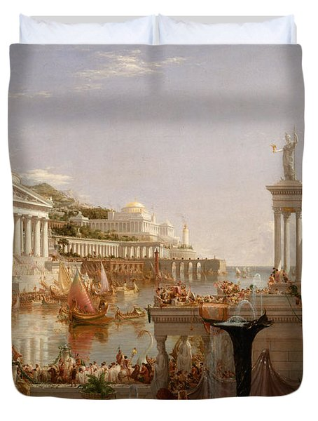The Consummation The Course Of The Empire  Duvet Cover