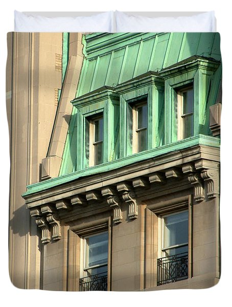 Duvet Cover featuring the photograph The Copper Attic by RC DeWinter