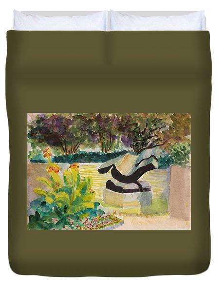 The Corinthian Garden Duvet Cover