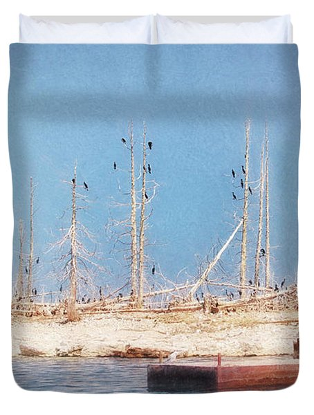 The Cormorants At Deaths Door Duvet Cover